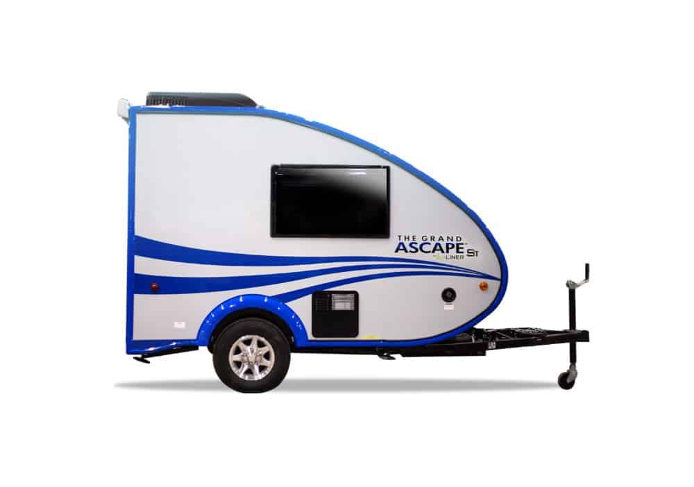 The aerodynamic, Aliner Ascape, 2,000 pound camper.