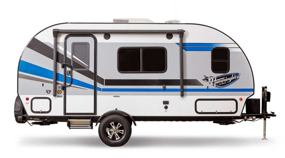 The Jayco Hummingbird starts our list for ultra lightweight travel trailers under 2,000 pounds.