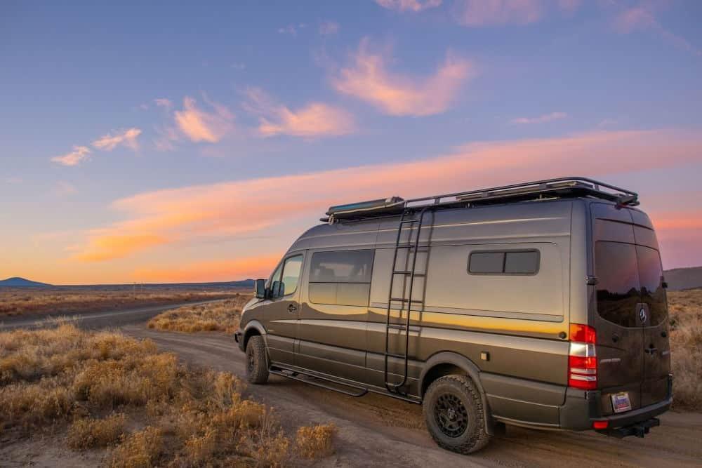 Exterior of Esplori custom campervan