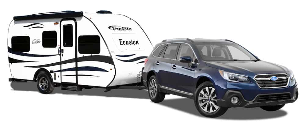 Even a small car can tow this ultra-light weight travel trailer under 2,000 pounds