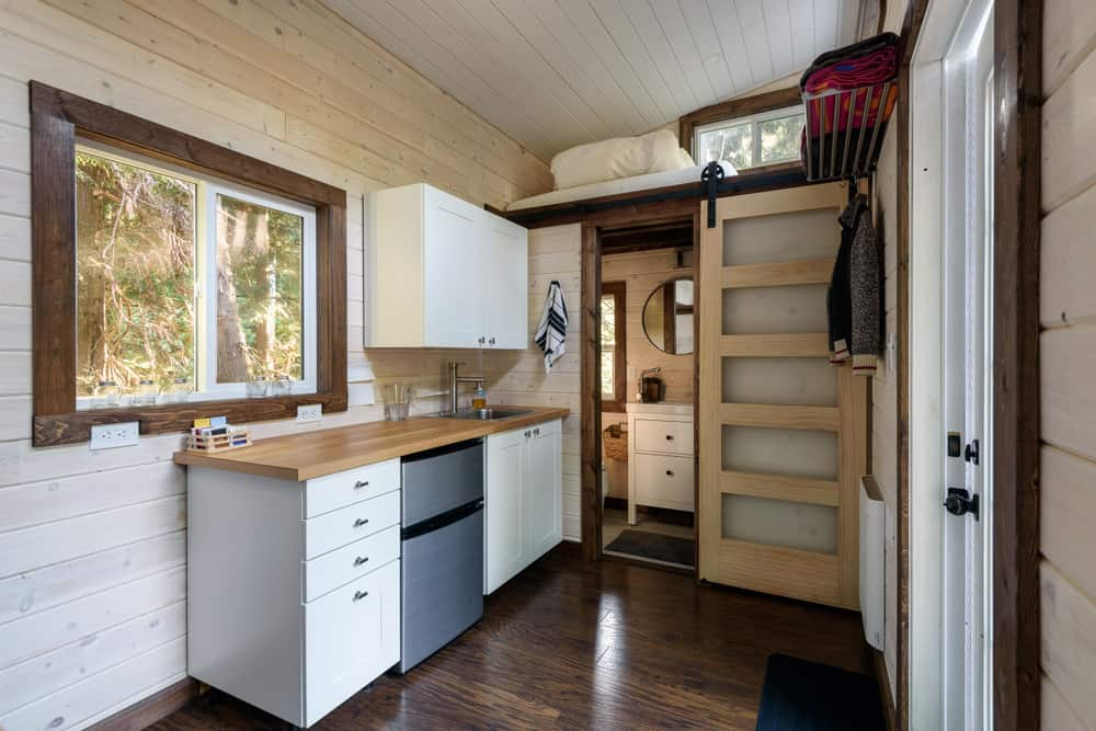 Kitchen and bedroom tiny house furniture