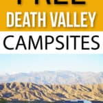 free camping in death valley