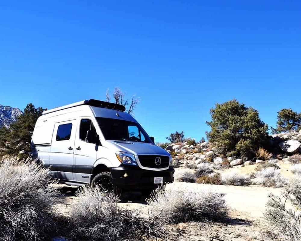 winnebago revel camper van rental in lone pine