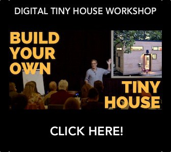 How to build your own tiny house workshop promotional image.