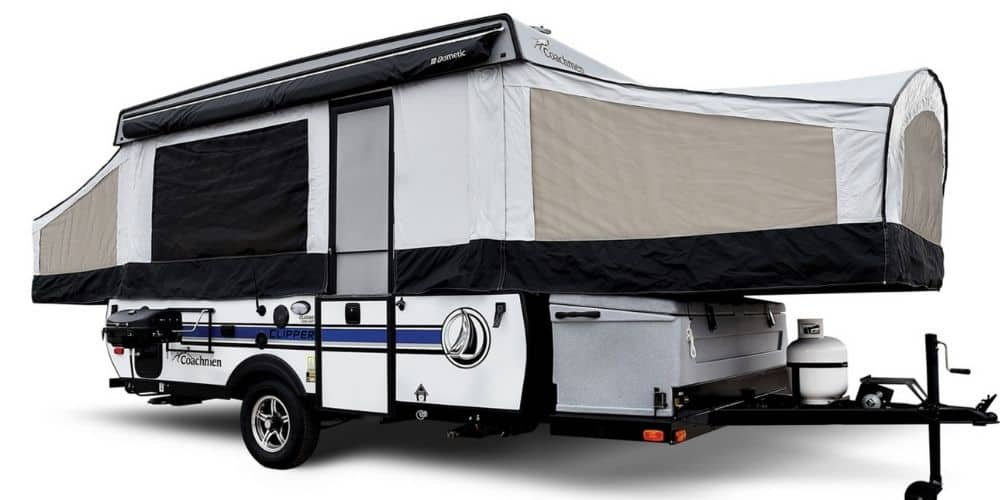 Coachman Clipper Classic exterior with pop ups open.