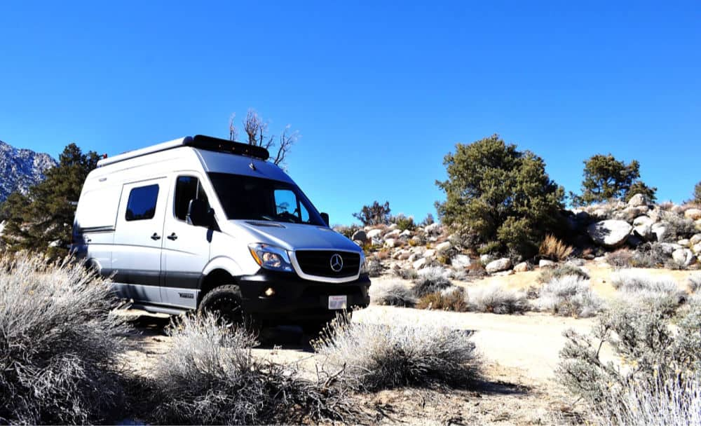 Winnebago Revel Class B RV rental in the Alabama Hills, California