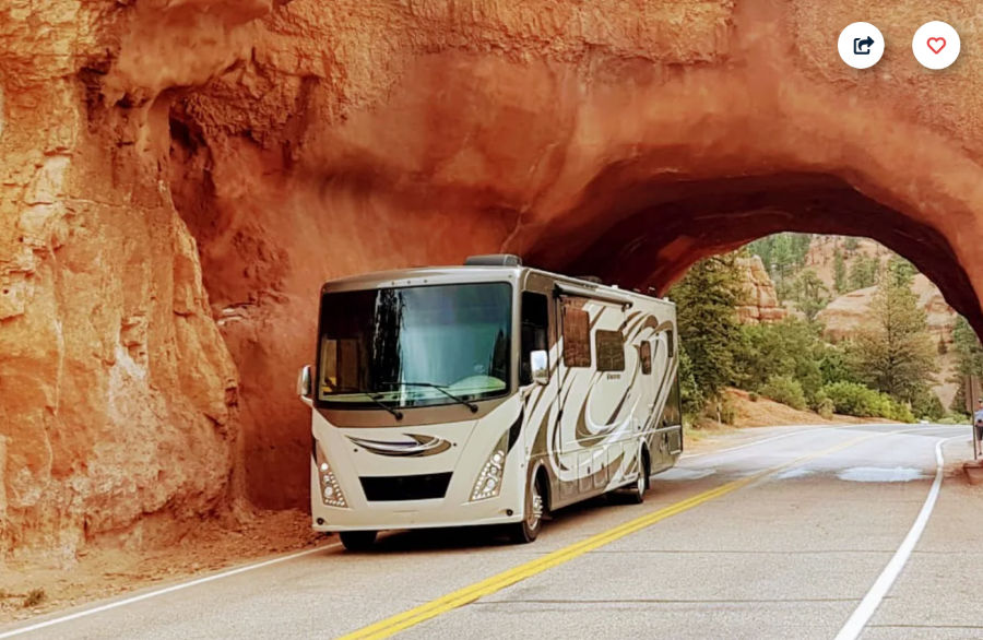 Renting out your RV is easy with a Class A like this one.