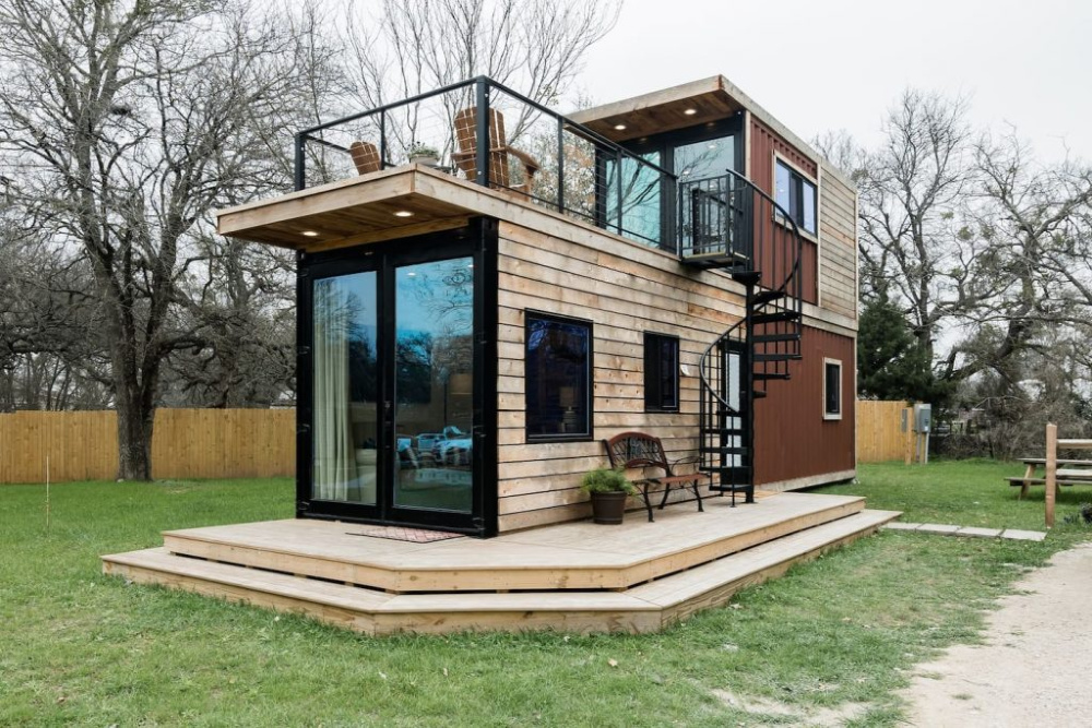 Modern container home by CargoHome container house builders.