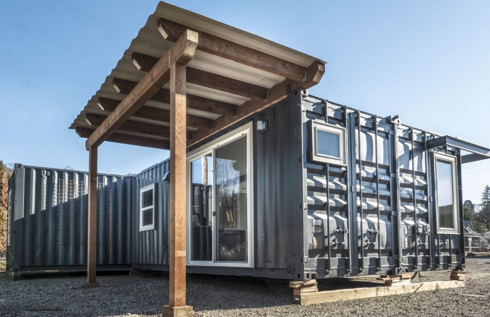 Relevant Buildings Teahouse container home model.