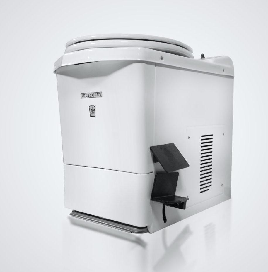 Incinolet model CF incinerating tiny house toilet