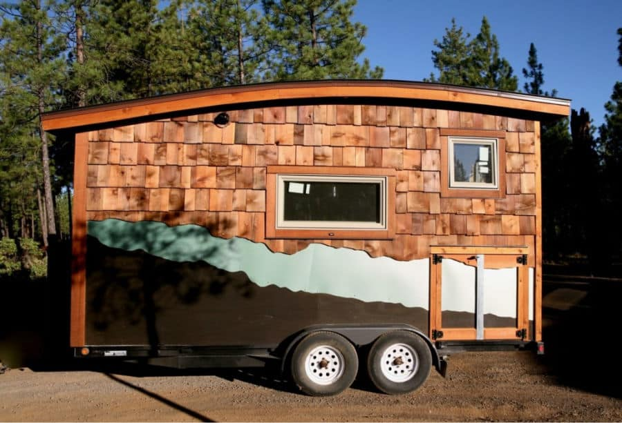 Exterior of the McKenzie Off Grid Tiny House on Wheels