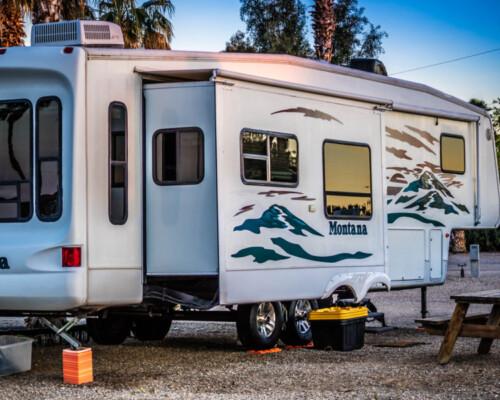 workamping camper trailer in Arizona