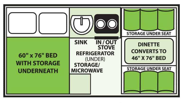 A liner classic pop up camper floor plan