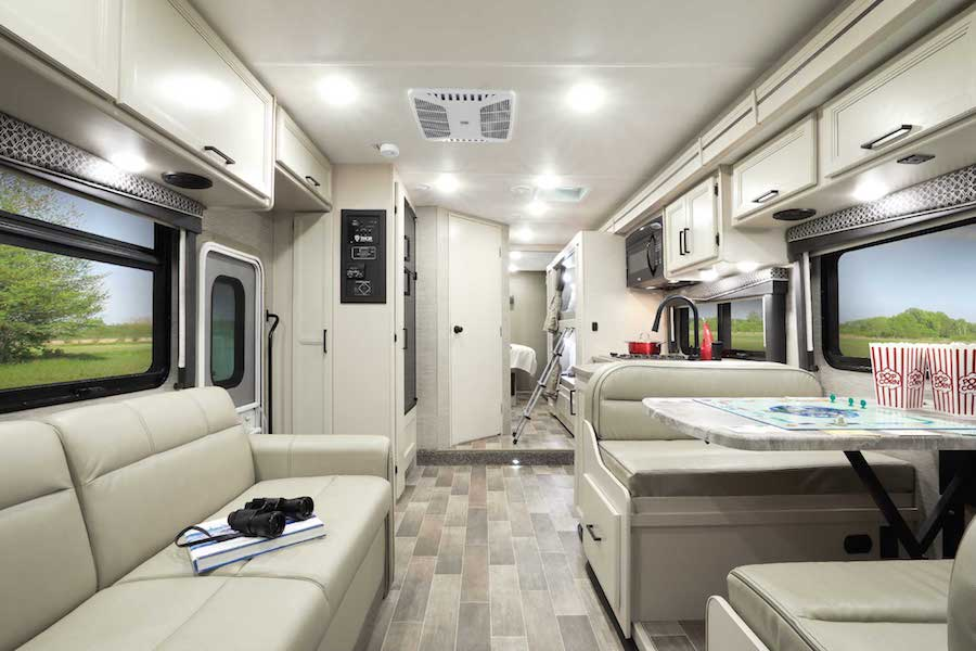 Interior of the Chateau - one of the best RVs for full time living