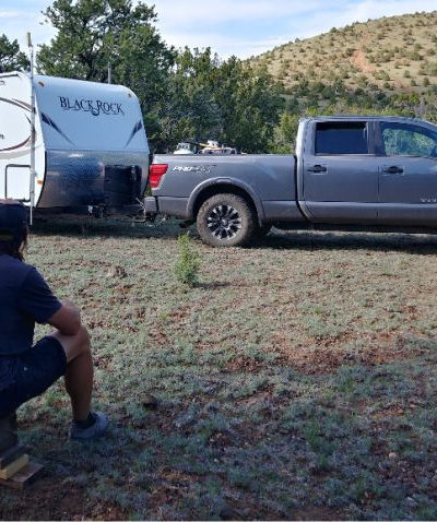 RVers camping on their own land