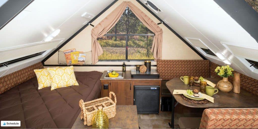 Jayco J Series a frame camper interior
