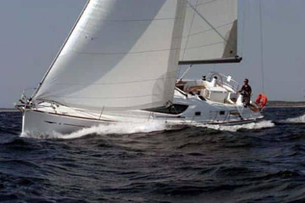 Jeanneau Sun Odyssey sails the open ocean