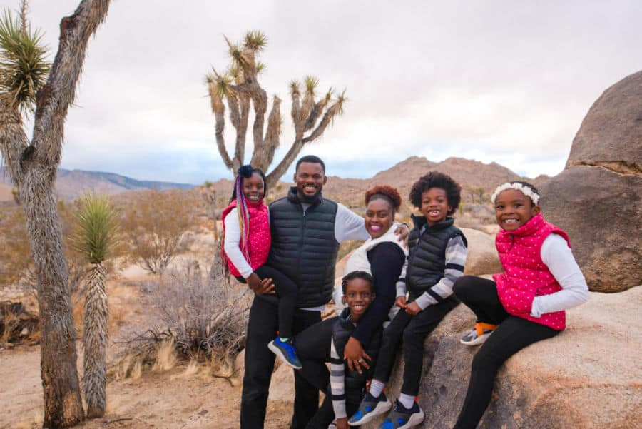 RVing family at Joshua Tree National park