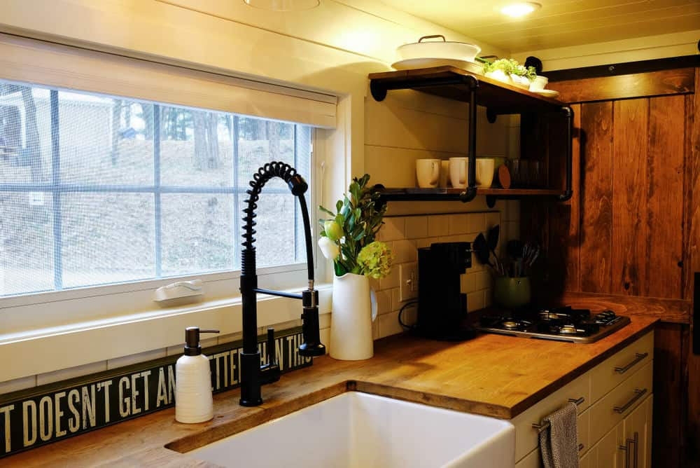 Kitchen in a tiny home