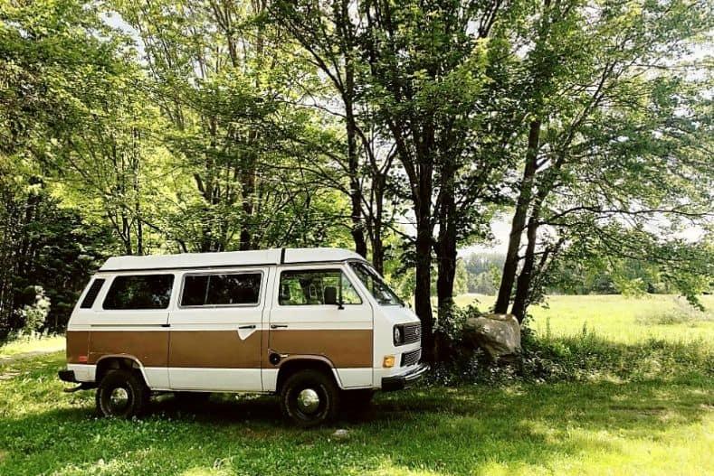 Vintage used camper van