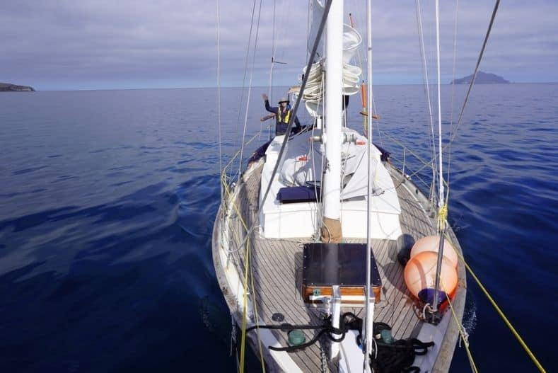 Catamaran vs Monohull: Monohull at sea