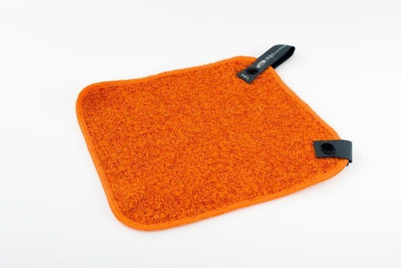 Orange microfiber wash cloth