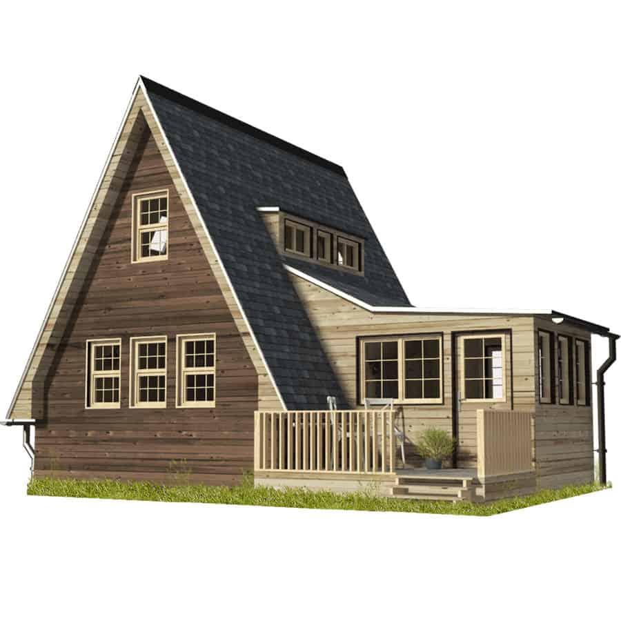 Megan A frame tiny house plans
