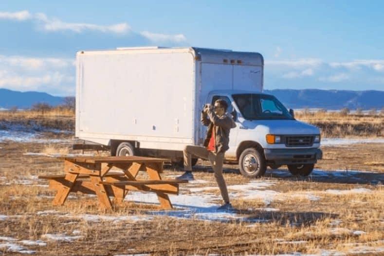 Exterior of Adventure Box truck camper conversion