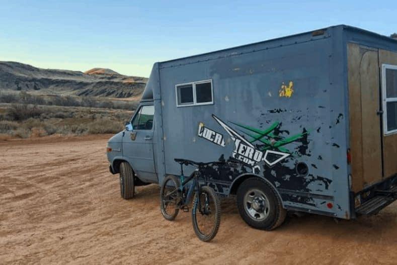 Tegan's box truck camper conversion exterior