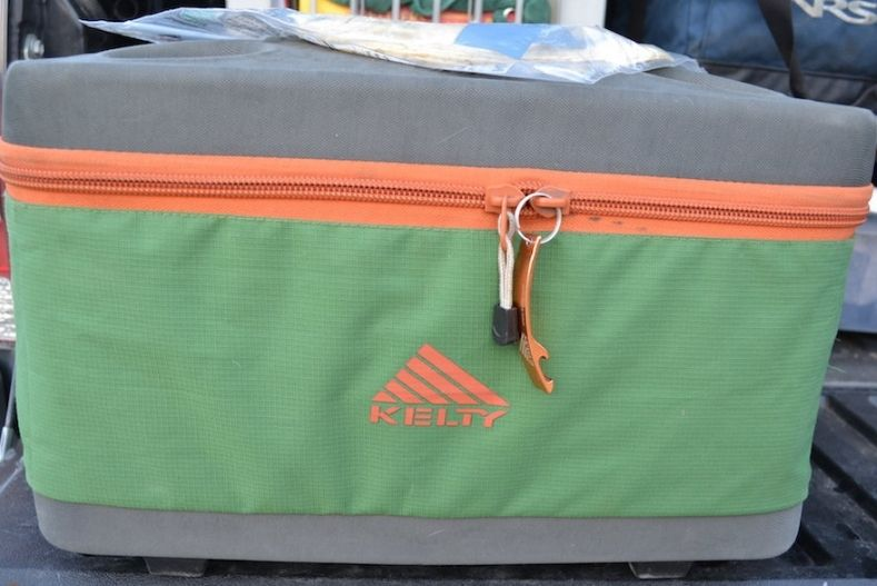 kelty folding cooler in bright lime green for pickup camper accessories
