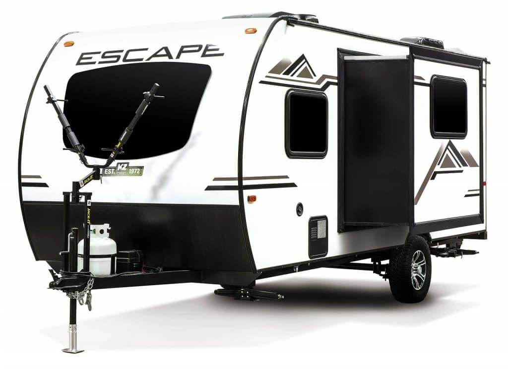 Escape small camper with slide out open