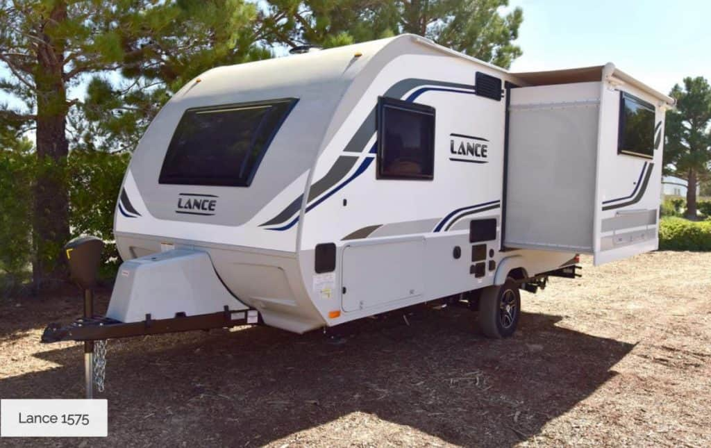 Lace is one of the best small travel trailers with slide out