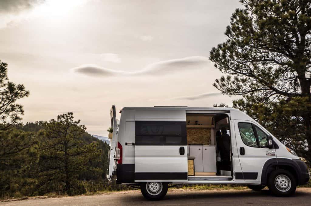 Native Dodge Promaster camper van rental for road trip