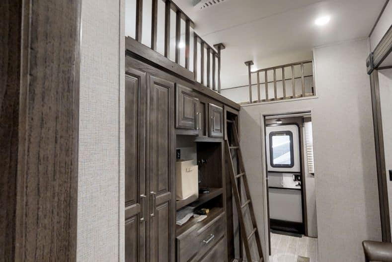 Keystone Avalanche interior with lofted bunks
