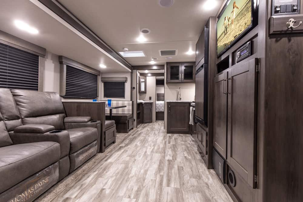 Grand Design interior: one of the best travel trailers with two bathrooms