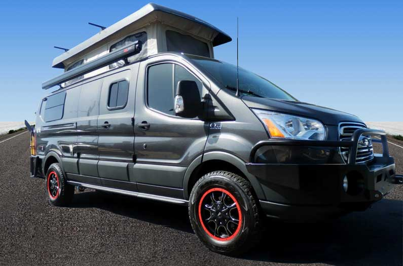 Ford Transit Quigley 4x4 camper van conversion by Sportsmobile