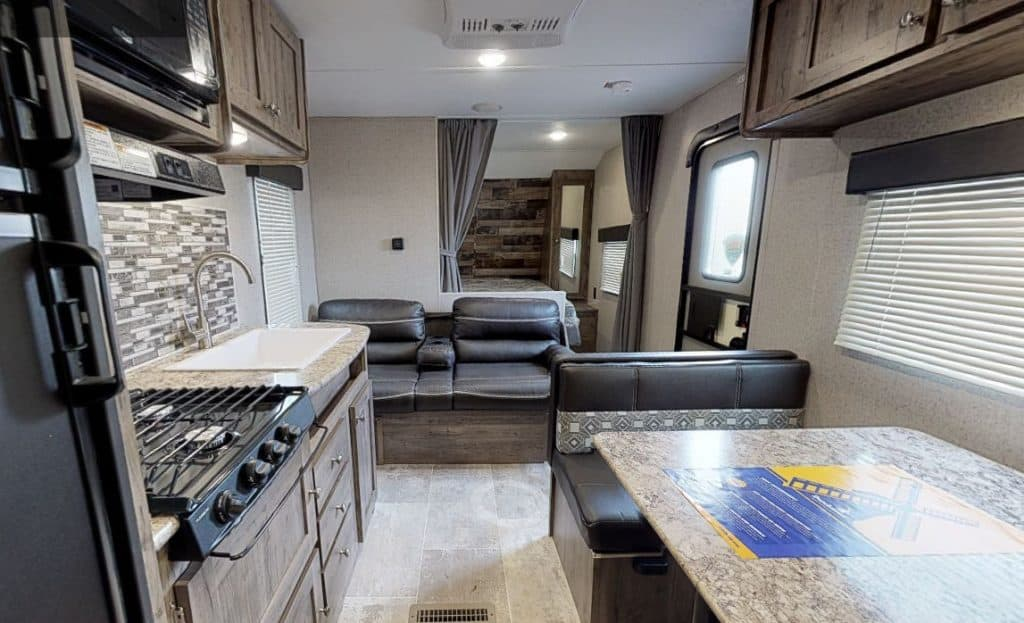Interior of the Dutchman 6000 lbs camper
