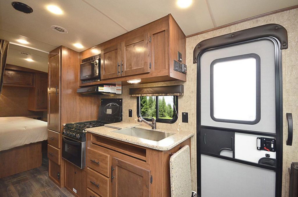 Interior of the Creekside 4 season camper
