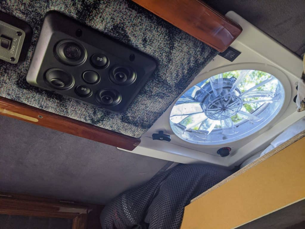 Fantastic Fan seen from the inside of a van