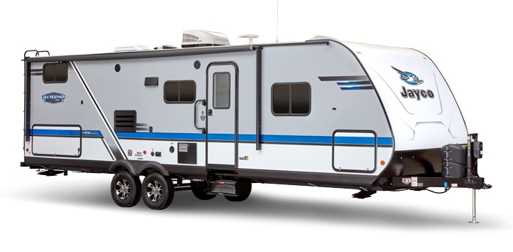 Exterior of Jayco travel trailer under 6000 lbs