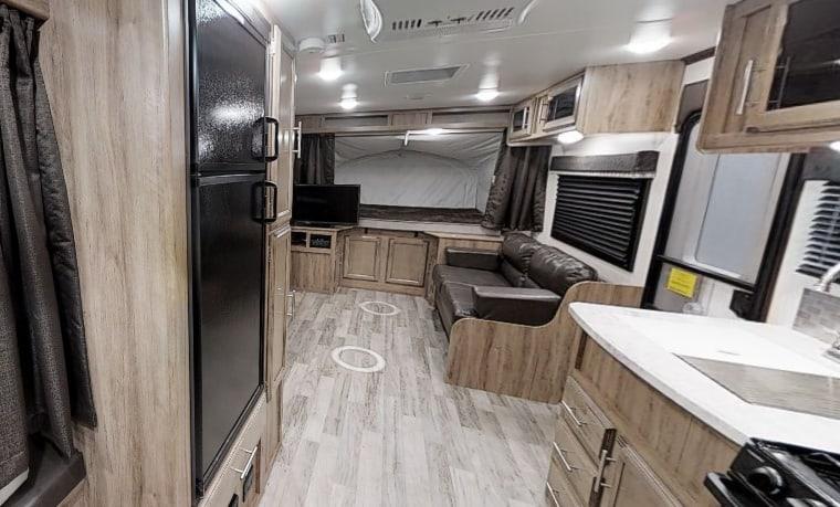 Interior of the Jayco 6000 lb travel trailer