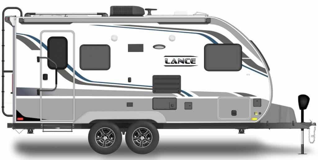 Exterior of the Lance best travel trailer under 6000 lbs