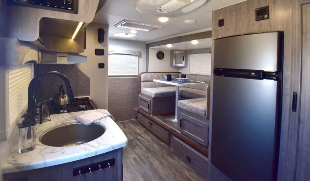 Interior of the Lance 4 season camper