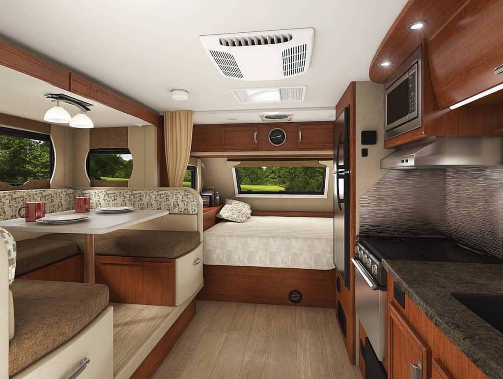 Interior of the Lance 6000 lbs camper
