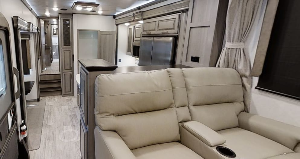 Interior of the Keystone Montana, one of the best 4 season trailers