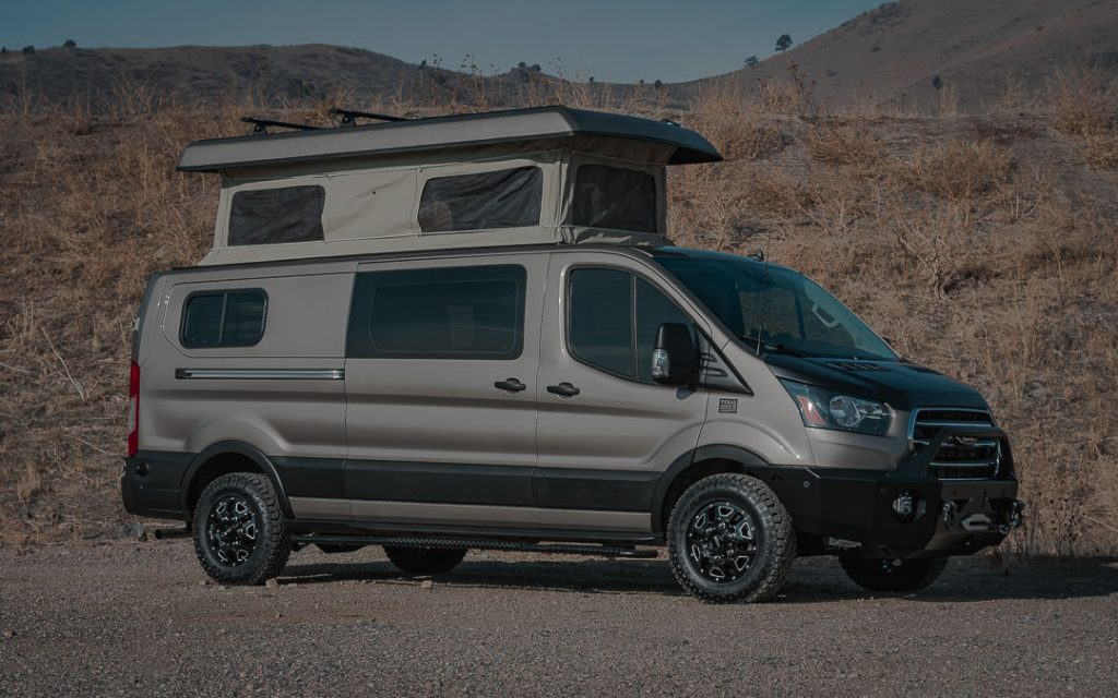 Tourig Ford Transit Campervan with pop top