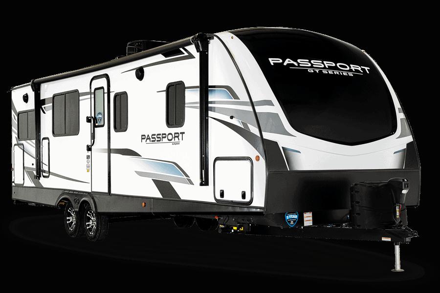 Passport 6000 lb travel trailer exterior