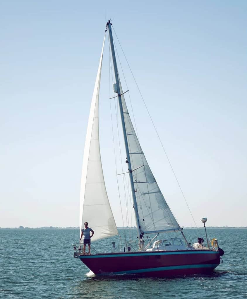 van de stadt 36 seal small sailboat for ocean cruising