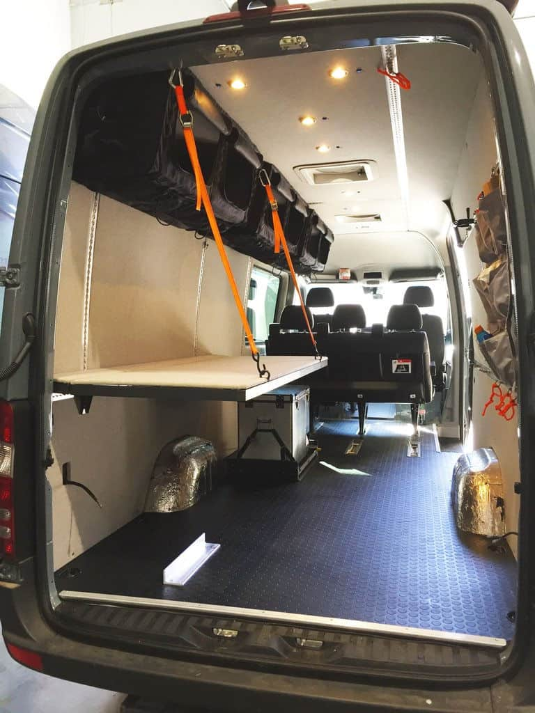 Adventure Wagon Monk bed can be used to create Sprinter van bunk beds