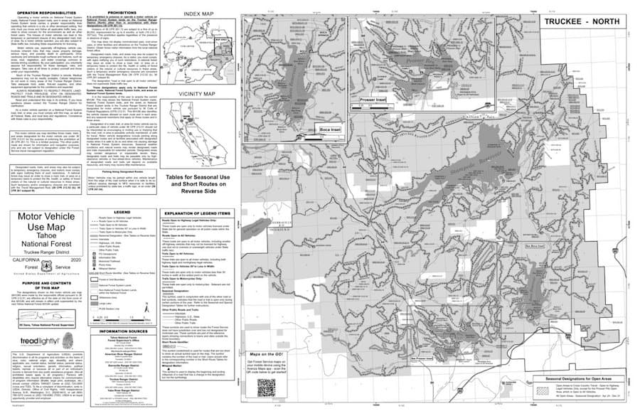 Using motor vehicle use maps to find dispersed camping in national forests
